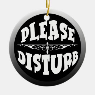 Do Not Disturb Door Hanger for Bedroom Double-Sided Ceramic Round Christmas Ornament