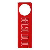 Do not disturb door hanger sign for hotel or home