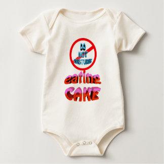do not disturb eating cake baby bodysuit