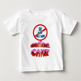 do not disturb eating cake baby T-Shirt