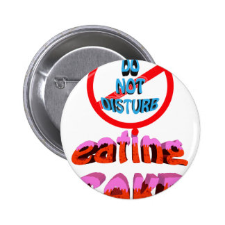 do not disturb eating cake button