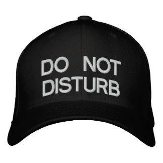 DO NOT DISTURB EMBROIDERED BASEBALL CAP