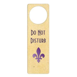 Do Not Disturb Fleur de Lys Door Hanger