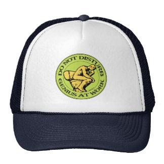 Do Not Disturb, Genius AT Work (color stamp style) Trucker Hat