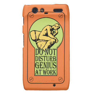 Do Not Disturb, Genius AT Work (colour Lock hole) Motorola Droid RAZR Cover