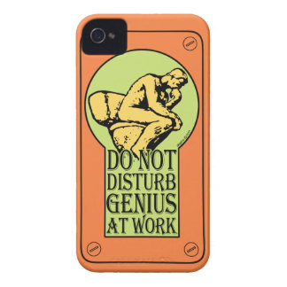 Do Not Disturb, Genius AT Work (colour Lock hole) iPhone 4 Cover