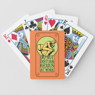 Do Not Disturb, Genius AT Work (colour Lock hole) Bicycle Playing Cards