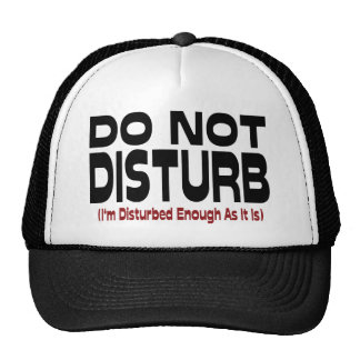 Do Not Disturb - I'm Disturbed Enough As It Is Trucker Hat
