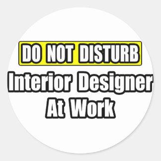 Interior Designer At Work Classic Round Sticker
