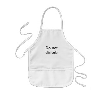 Do not disturb kids' apron