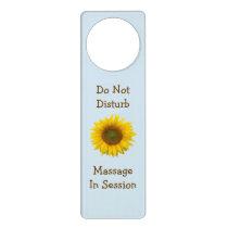 Do Not Disturb Massage in Session Sunflower Door Hanger