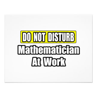 Do Not Disturb...Mathematician At Work Personalized Invitation