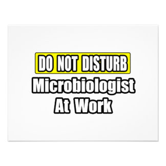 Do Not Disturb...Microbiologist At Work Personalized Announcements