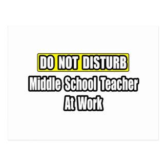 Do Not Disturb...Middle School Teacher At Work Postcards
