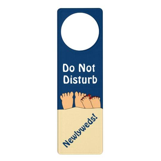 Do Not Disturb Newlyweds Cartoon Feet Door Sign Zazzle