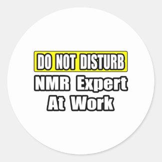 Do Not Disturb...NMR Expert At Work Classic Round Sticker