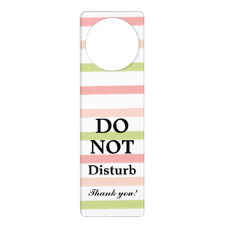 Do Not Disturb Pastel Stripes Door Hanger