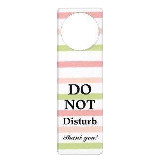 Do Not Disturb Pastel Stripes Door Hanger