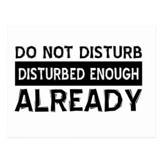 Do not disturb post cards