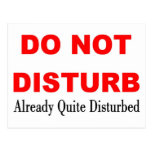 DO NOT DISTURB POSTCARD