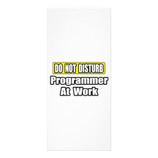 Do Not Disturb...Programmer At Work Customized Rack Card