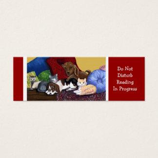 Do Not Disturb Reading In Progress Mini Business Card