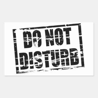 Do not disturb rubber stamp effect rectangular sticker