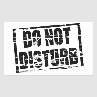 Do not disturb rubber stamp effect sticker
