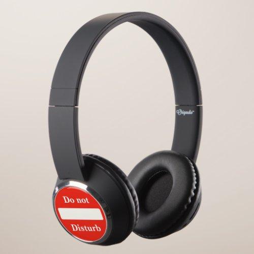 Do not disturb sign headphones