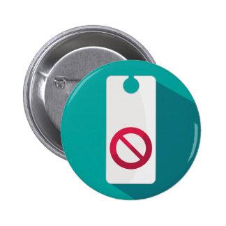Do Not Disturb Sign Hotel Icon 2 Inch Round Button