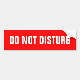 Do not disturb sign stickers