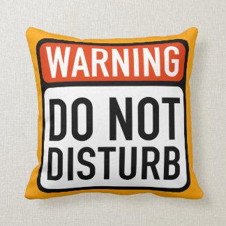 Do Not Disturb Sign Throw Pillow