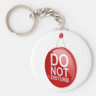 Do not disturb signboard keychain