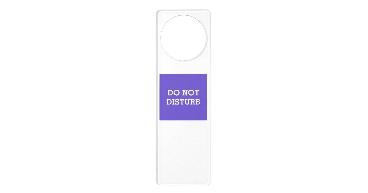 Do not disturb slate blue door hanger by janz zazzle for Slate blue front door