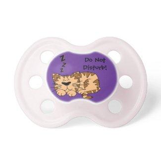 """""""Do Not Disturb"""" Sleeping Cat Pacifier"""