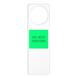 Do Not Disturb Spring Green Door Hanger by Janz