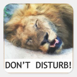 Do not disturb square sticker