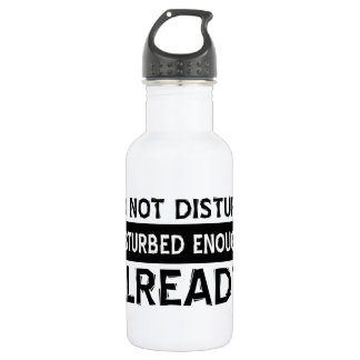 Do not disturb stainless steel water bottle