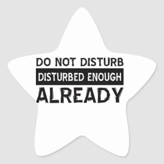 Do not disturb star sticker