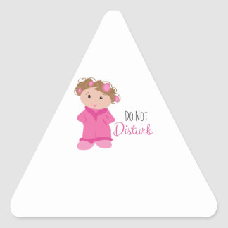Do Not Disturb Triangle Stickers