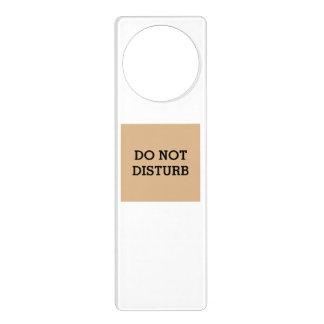 Do Not Disturb Tan Door Hanger by Janz