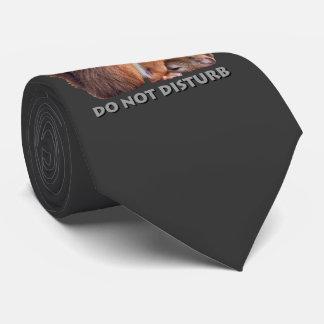 Do Not Disturb Tie (Dark Grey)