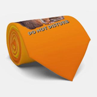 Do Not Disturb Tie (Yellow/Orange)