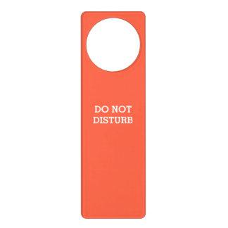 Do Not Disturb Tomato Red Door Hanger by Janz