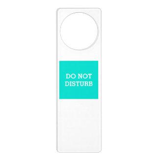 Do Not Disturb Turquoise Door Hanger by Janz