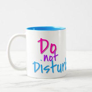 Do not Disturb Two-Tone Coffee Mug