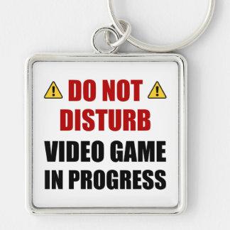 Do Not Disturb Video Game Keychain