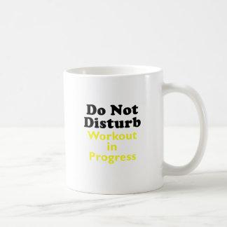 Do Not Disturb Workout in Progress Coffee Mug