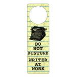 Do Not Disturb Writer at Work Antique Typewriter Door Knob Hanger