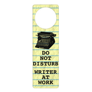 Do Not Disturb Writer at Work Antique Typewriter Door Hanger
